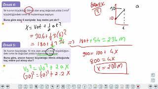 Eğitim Vadisi 11.Sınıf Fizik 6.Föy Bir Boyutta Sabit İvmeli Hareket 2 Konu Anlatım Videoları