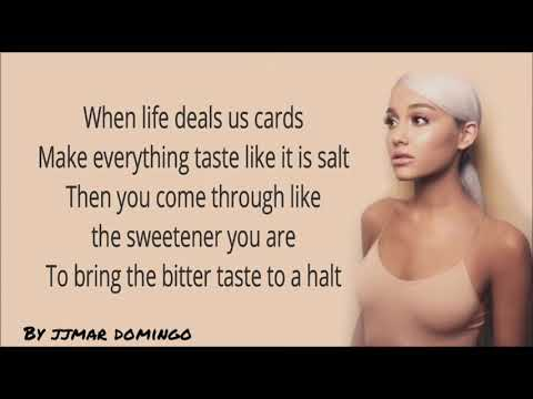 Ariana Grande-Sweetener Lyrics - Jjmar Domingo