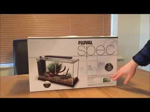 Fluval Spec V Aquarium Unboxing. A fish tank ideal for betta fish.