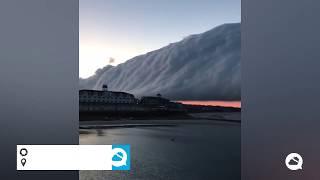Spectacular roll cloud on Block Island, USA