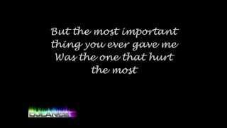 Thank You for the Broken Heart - J. Rice [Lyrics]