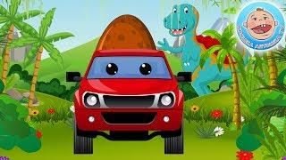 Мультики для Детей Приключения Машинки Пикап и Яйца Динозавра