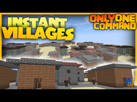 Village Generator With Only One Command Block Spawns Villages In Seconds Minecraft Map