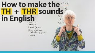 Learn English Pronunciation: TH & THR