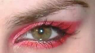 Красивые глаза, AVRIL LAVIGNE punk emo goth red make up tutorial inspired look