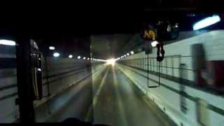 preview picture of video 'Suezkanal Fahrt durch den Sueztunnel ( Suez Tunnel) unter Kanal Sues Canal'