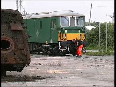 BR Green 73133 loaded onto a low loader at the Barry Tourist…