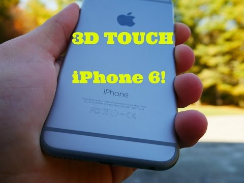 3D Touch on iPhone 6!