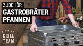 Gastrobräter-Pfannen | 3 Materialausführungen (1er bis 6er Breite) | Vorstellung & Test