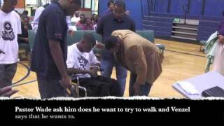 Paralyzed Young Man Gets Out Of Wheel Chair At Divine Life Church