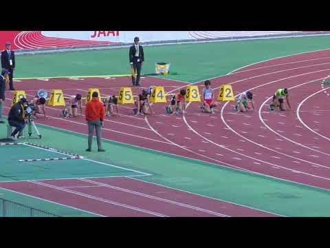 H29 ジュニアオリンピック C女子100m 準決勝1組