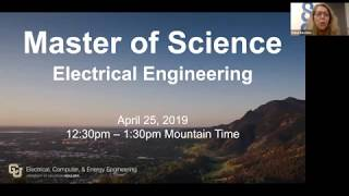 University of Colorado Boulder Master of Science in Electrical Engineering