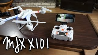 MJX X101 quadcopter + MJX WiFi FPV on Android Phone