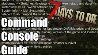7 Days to Die Tutorial  - Command Console Guide - Debug Menu