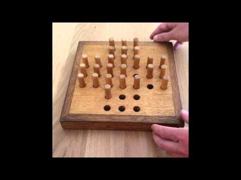 Solitär Brettspiel - Wie merke ich mir eine Lösung!! (Hilfe Deutsch/German) Peg Solitär Steckhalma