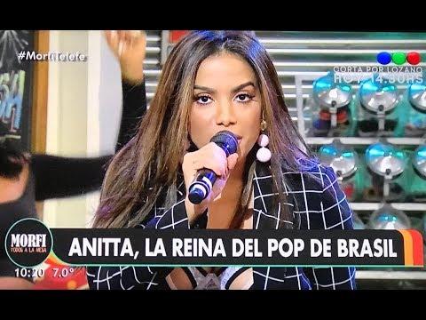 Anitta - Paradinha, Downtown, Indecente | En Morfi Telefe TV Argentina