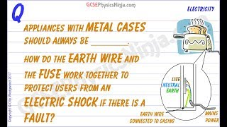 How Does An Earth Wire Work? - Electricity Safety - GCSE Physics