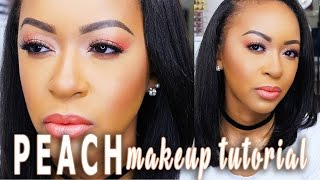 Peach Monochromatic Makeup Trend Tutorial | Collab w/Jasmine Airdelle ♡ Fayy Lenee Beauty