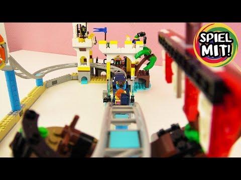 Lego Creator PIRATEN-ACHTERBAHN Freizeitpark 31084 Set Deutsch - Wilde Fahrten auf dem Hai!