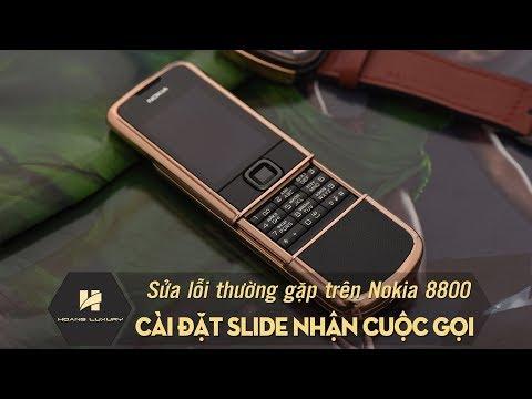 Series những lỗi cơ bản của NOKIA 8800 - Cài đặt slide nhận cuộc gọi