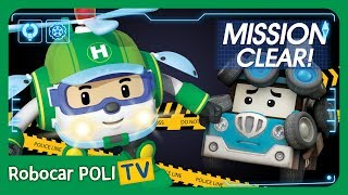 MISSION CLEAR! Catch the Tire Thief! | Roobocar POLI TV