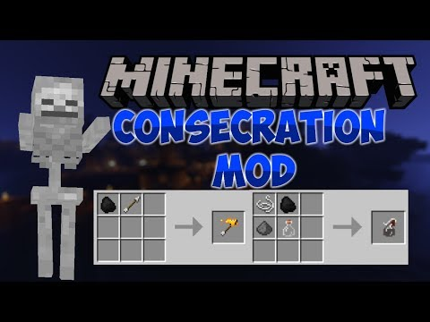 Minecraft: Fire Bombs and Holy Water! Consecration Mod