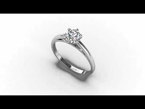 solitaire diamant 6 griffes