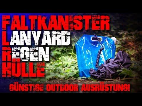 Faltkanister Lanyard Redehülle Rucksack - Günstige Outdoor Ausrüstung Survival Bushcraft Camping