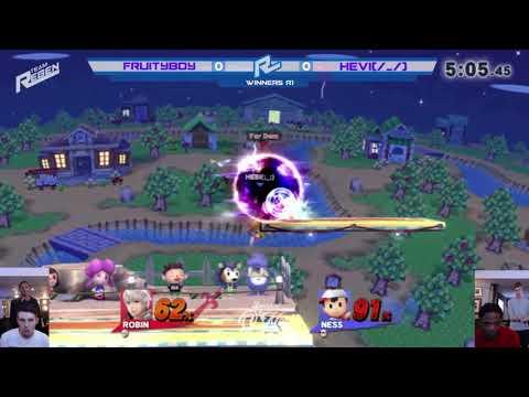 Smash at O'Neill's 41: Winners R1: Fruityboy (Robin, Roy) vs Hebi (Ness, Captain Falcon)