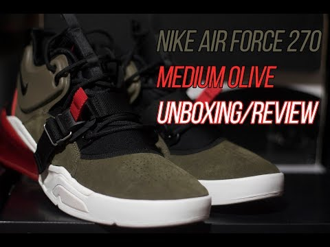 "Air Force 270 ""Medium Olive"": Unboxing Review and On-Feet Look"