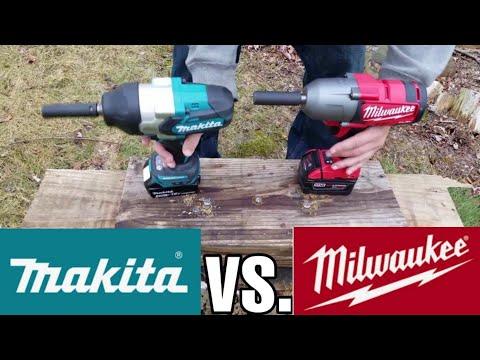 Milwaukee (2763) vs. Makita (XWT08Z) High Torque Impact Wrench Lag Bolt Face Off