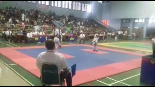 Nayla Ayu Ditha sabuk biru,pada kejuaraan Karate Nara Cup Deaember 2016