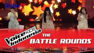 "Michelle vs Nitya vs Carissa ""Domino"" I The Battle Rounds I The Voice Kids Indonesia 2016"