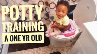 How to Potty Train a One year old | Not Walking Yet