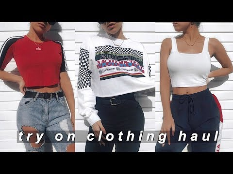TRY ON CLOTHING HAUL 2019 - (ASOS, Fila, Adidas, Missguided)