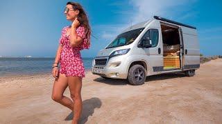 SOLO FEMALE VANLIFER | Van Tour - Kitesurfing Instructor & Digital Nomad Travels Full Time!