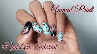 Animal Print Nail Art Tutorial | Happiness Is Nail Art