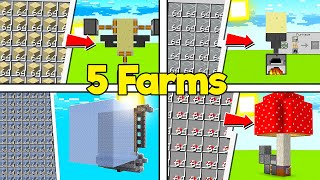 ✔️5 FARMS ESSENCIAIS PARA O SEU SURVIVAL NO MINECRAFT