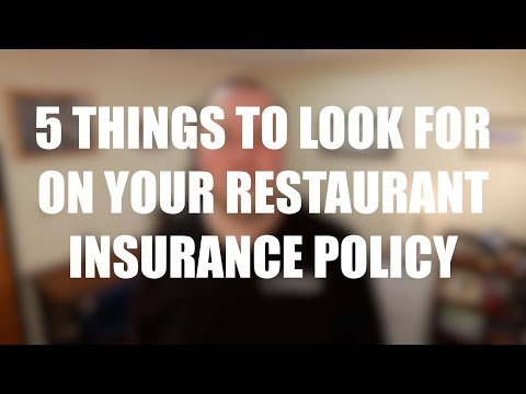 , title : '5 Things to Review on Your Restaurant Insurance Policy