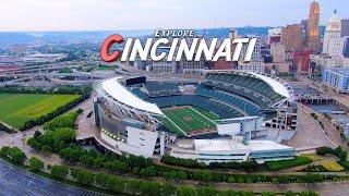 Explore Cincinnati, Ohio 🇺🇸 First Vlog  4K  Aerial Drone Footage