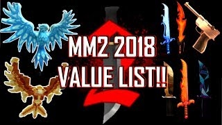 roblox mm2 value list 2018 - ฟรีวิดีโอออนไลน์ - ดูทีวีออนไลน์ - คลิป