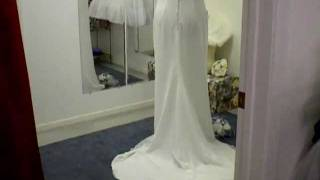 Size 14-16 Chiffon Moonlight Wedding Dress, Vintage Gown