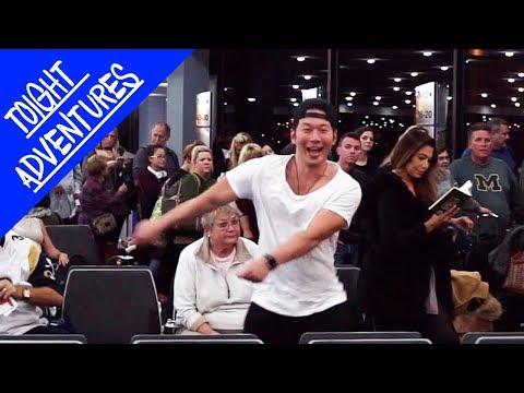 DANCING BTS GO GO in a Plane - KPOP IN PUBLIC