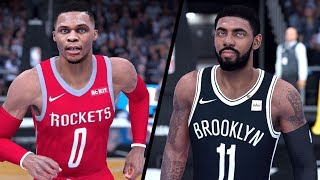 NBA 2K19 - Houston Rockets vs. Brooklyn Nets - Full Gameplay (Updated Rosters)