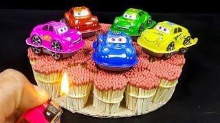 EXPERIMENT Match Vs Kinder Joy Cars