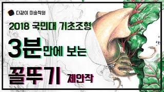 2018 국민대 기초조형 합격 비법 제안작 공개!!-2018 실기대회 출제 문제