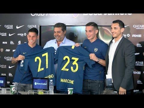 8c2b2ecae4 Marcone y Campuzano fueron presentados como los nuevos refuerzos de Boca