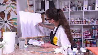 Презентация БЕСПЛАТНОГО онлайн урока по написанию картины «Хлопок в абстракции»