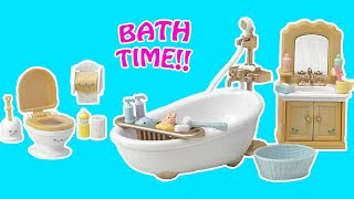 Calico Critters / Sylvanian Families Country Bathroom Set Toy Review