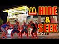 24 HOUR OVERNIGHT HIDE AND SEEK NERF WAR IN WORLD'S BIGGEST MCDONALDS